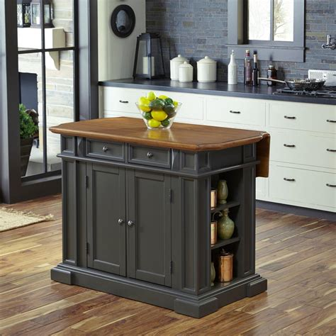 home styles americana grey kitchen island  drop leaf