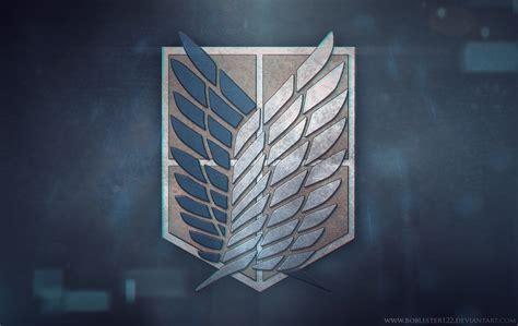 attack  titan logo wallpaper wallpapersafari