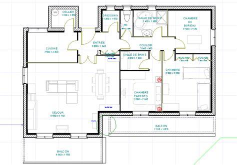 plan de cuisine ouverte plan maison cuisine ouverte