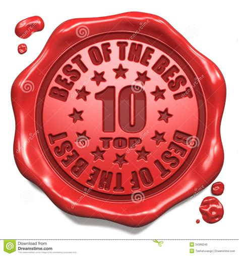 Top 10 In Charts  Stamp On Red Wax Seal Royalty Free
