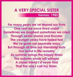 Birthday Special Sister Poem
