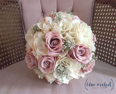 bridal bouquet rustic bouquet dusty rose bouquet babys