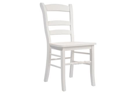 chaise blanche en bois chaise bois blanc 47x40x91cm j line j line by jolipa 12829