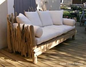 Canape De Jardin Bois : canap s en bois flott entre mer et marais cr ations ~ Premium-room.com Idées de Décoration