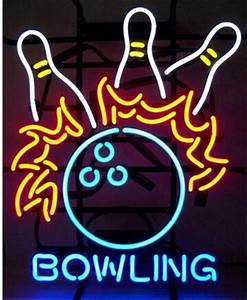 2017 2016 New Bowling Pins Flames Neon Sign Sport Game