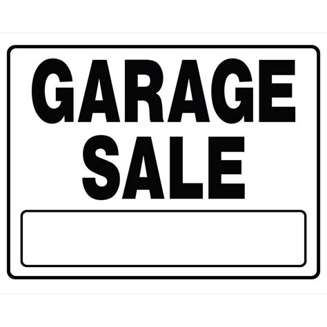 The Hillman Group 6 In X 24 In Plastic Garage Sale Sign