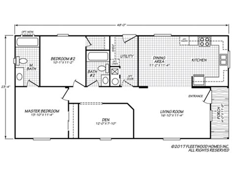 standard floor plan  images floor plans fleetwood