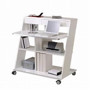 Computertisch Auf Rollen : computertisch quick wei lackiert home24 ~ Watch28wear.com Haus und Dekorationen