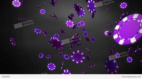 Purple Casino Chips Black Stock Animation 7449649