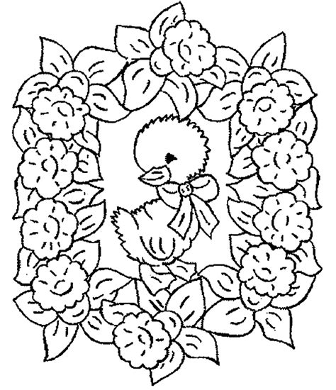 Kuikentjes Kleurplaat by Pasen Kleurplaten Kuiken
