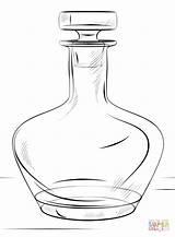 Colorear Dibujos Bottle Coloring Botella Dibujo sketch template