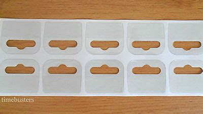clear sticky euro hook slot hangers hang tabs display