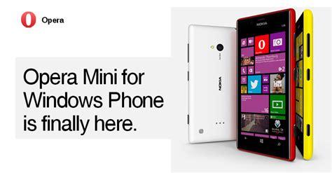 opera mini for windows phone available as beta testing