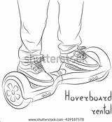 Hoverboard Vector Gyroscooter Illustration Rental Shutterstock Portfolio sketch template