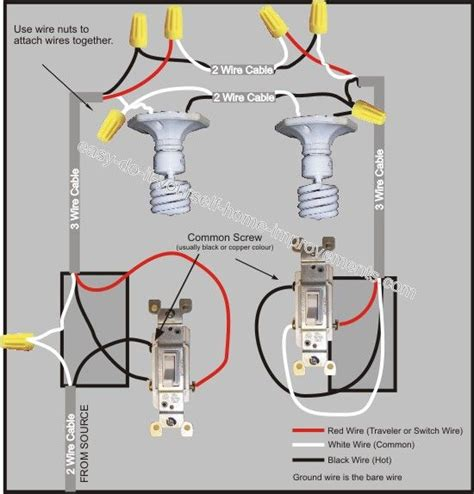 3 way switch wiring diagram lights 3 way switch wiring diagram the home electrical wiring
