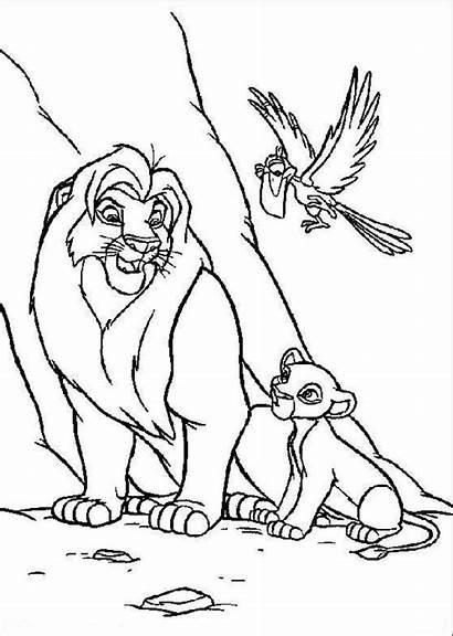 Coloring Lion King Horse Disney Cartoon