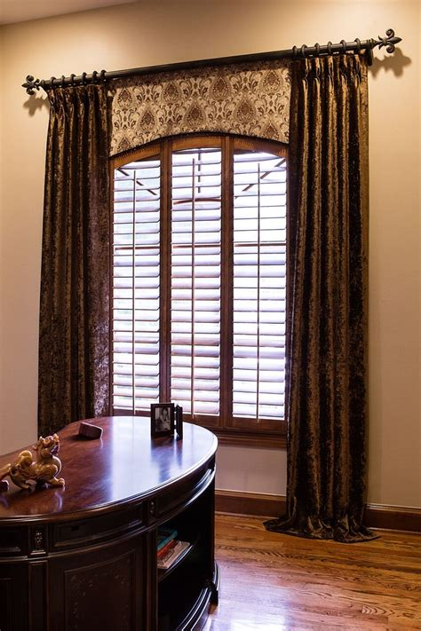 Curtains And Window Treatments by Tailored Arched Bottom Valance Decorative Hardware Study
