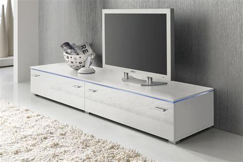 Lowboard Tv Schrank 180 Cm Weiß Fronten Hochglanz