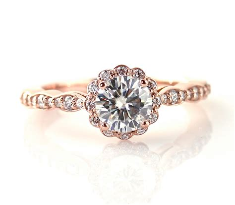 gold antique engagement rings wedding promise