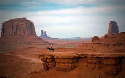 Cowboy Western Desktop Desert Landscapes Nature Canyon
