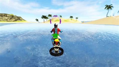 Motorbike Games For Kids, Floating Water Bike Driving