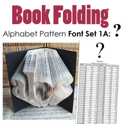 question mark book folding pattern alphabet font set  debbi moore designs