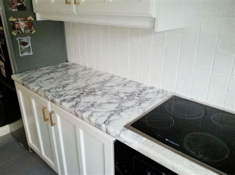Contact Paper For Kitchen Countertops by Diy Cheap Easy Marble Look Counters Done With