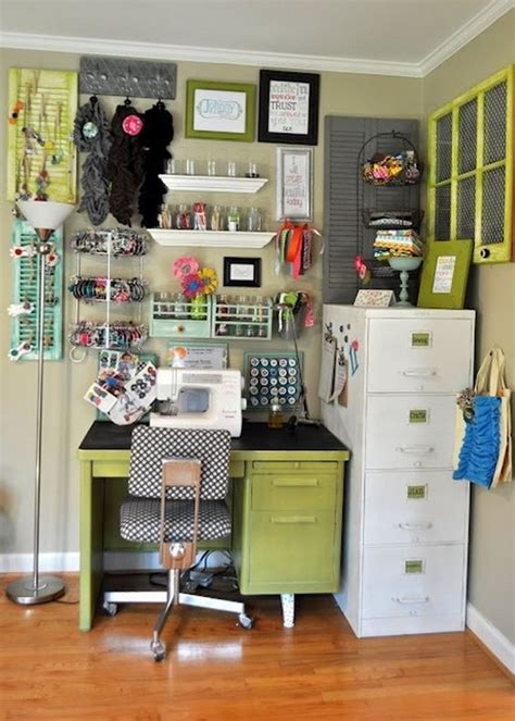 Corner Desk Organization Ideas by 50 Amazing And Practical Craft Room Design Ideas And