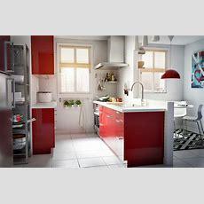 Ikea Österreich, Inspiration, Küche, Rot, Modern