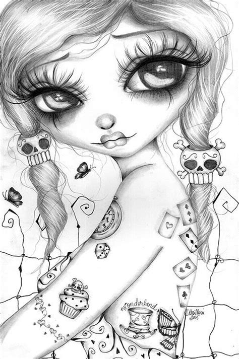 Pin by Suzanne Corker on colouring | Girly tattoos, Artwork prints, Drawings