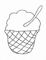 Cream Coloring Ice Whipped Template Food Printable sketch template