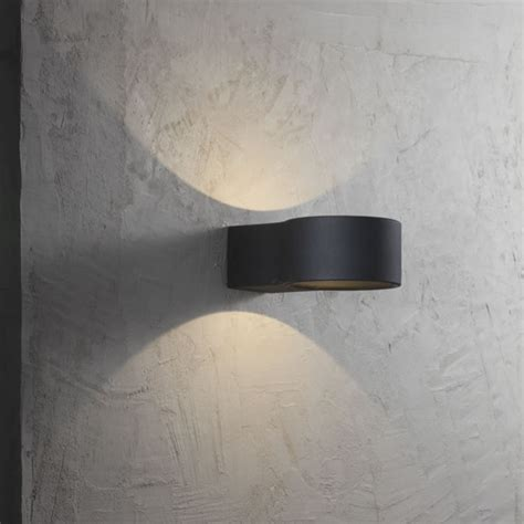 nordlux ring led outdoor wall light black