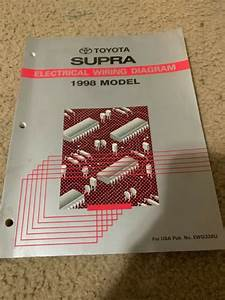 1998 Toyota Supra Electrical Wiring Diagrams Ewd Service