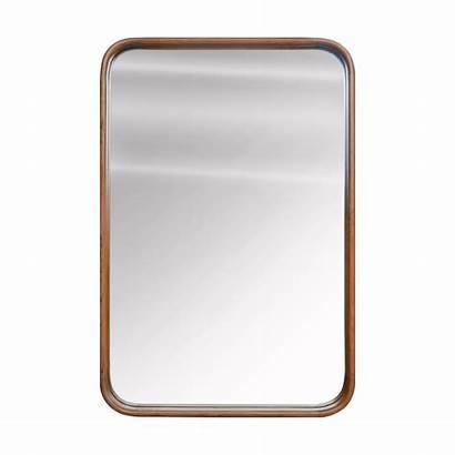 Teak Rectangle Mirror Frame Natural Round Face