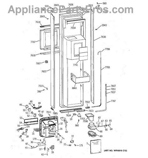 parts  ge ziswdsc freezer door parts appliancepartsproscom