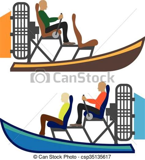 Airboat Silhouette by Airboat Royalty Free Vector Illustration Csp35135617