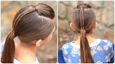 Fishtail Accented Ponytail Hairstyles for Sports Cute