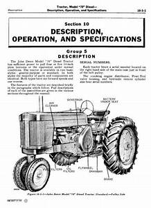 John Deere Service Manual For 70  Sn  700001