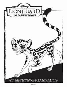 The lion guard coloring pages unleash the power for Power guard