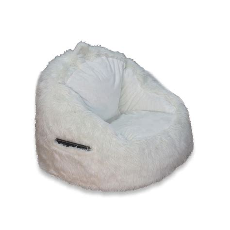 ace casual furniture fur structured bean bag 9587001