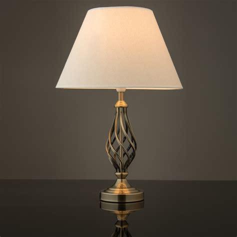 kingswood barley twist traditional table lamp  shade