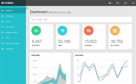 html responsive admin dashboard templates