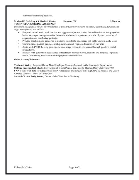chemical lab technician resume 6 10 2016