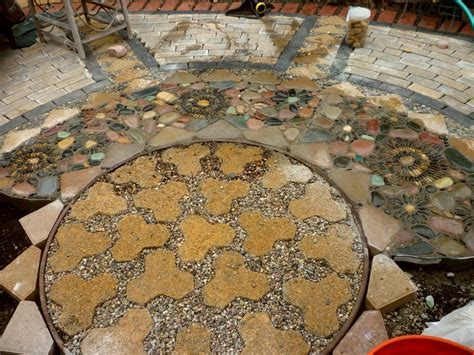 diy paver and pebble mosaic patio the owner builder network