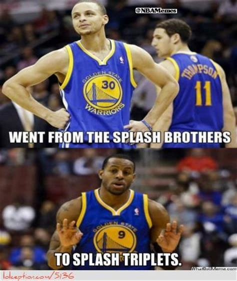Golden State Warriors Memes - golden state warriors splash brother to splash triplets http weheartmiamiheat com golden