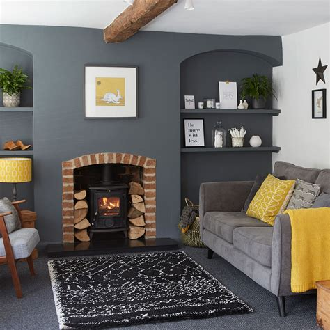 grey and yellow living room grey living room ideas ideal home