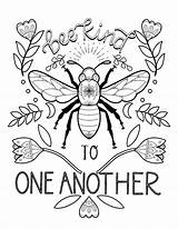 Bee Coloring Kind Another Honey Hive sketch template