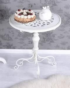 Beistelltisch Weiß Vintage : beistelltisch shabby chic tisch weiss eisentisch rund teetisch vintage ebay ~ Yasmunasinghe.com Haus und Dekorationen