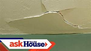 how to repair a cracked drywall ceiling diy