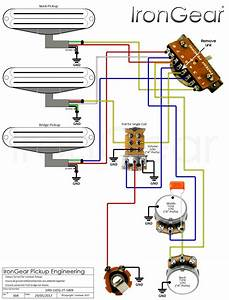2 Conductor Humbucker Wiring Diagrams Only